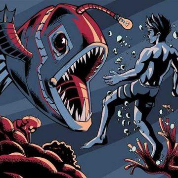 Sea monster digital illustration